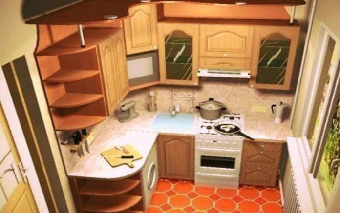 Как обставить кухню площадью 6 метров