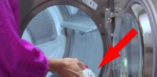 Она бросила в стиральную машину шарик из фольги