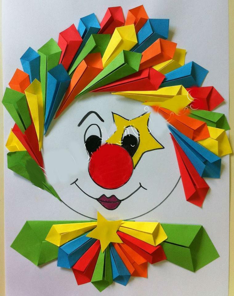 Как сделать клоуна из бумаги своими руками