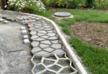Тротуарная плитка, которую можно сделать своими руками