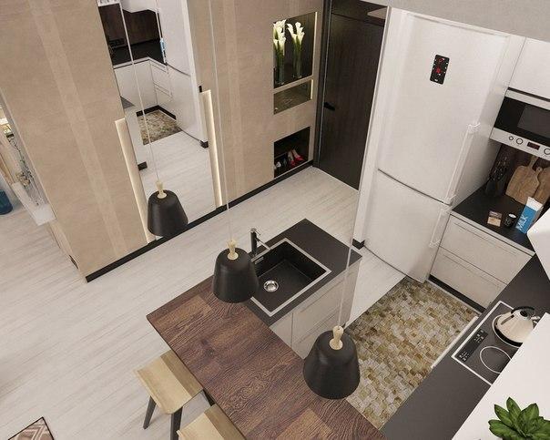Дизайн квартиры 38 м студия