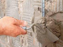 Технология выравнивая поверхности стен по маякам