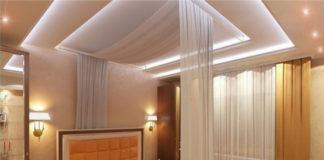 Потолок с подсветкой своими руками