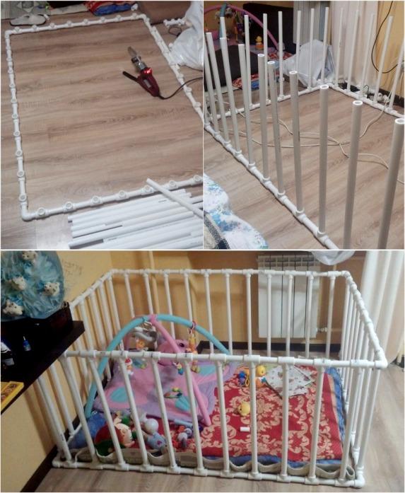 Детская кровать из труб пвх своими руками 73