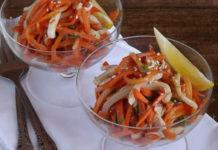 Морковь с кальмаром по-корейски