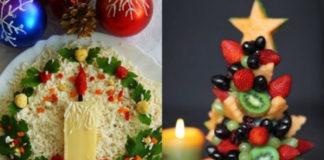 6 рецептов красивых салатов к Новому году