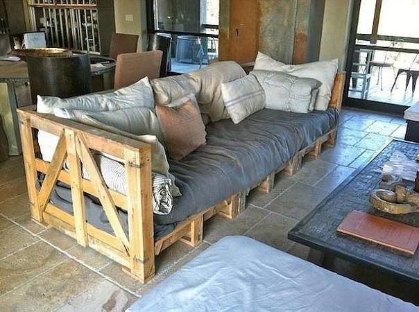 Оригинальная мебель из поддонов