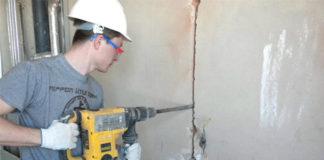 Как правильно штробить стены под проводку