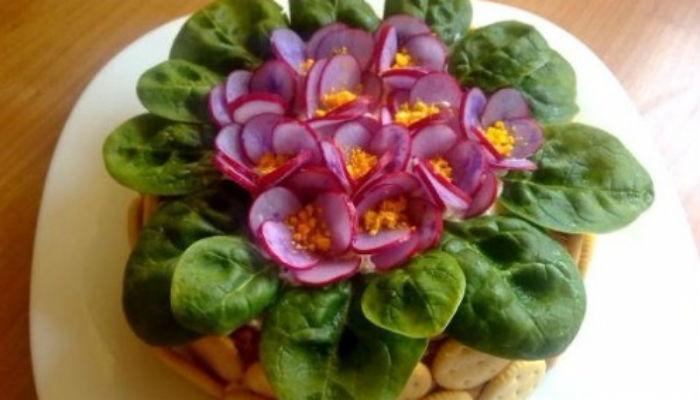 """Красивейший салат """"Фиалки"""""""