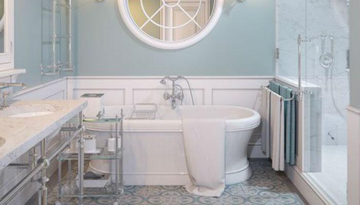 Нежная ванная комната