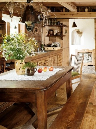 Очаровательные интерьеры деревенского дома. Словно у бабушки побывал