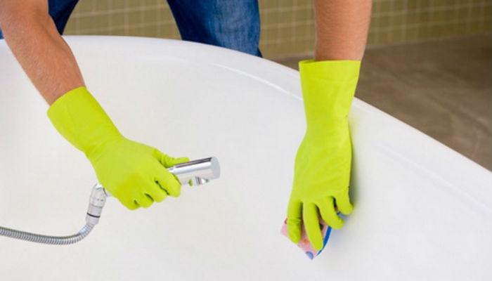 Очень простой способ как сделать ванну белоснежной