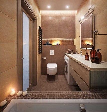 Вариант планировки ванной