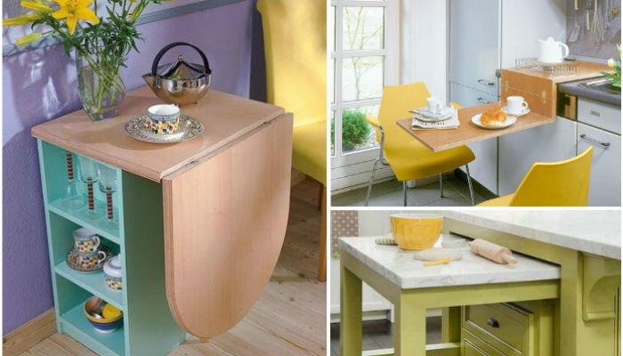 Рабочий стол на кухню из старой мебели