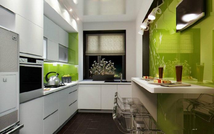 Красивое оформление маленькой и удобной кухни