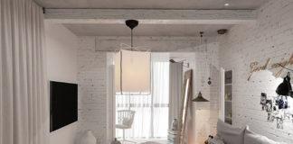 Стильный дизайн квартиры в бело-серых тонах