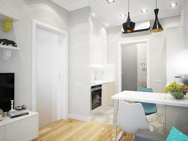 Дизайн - проект маленькой двухкомнатной квартиры, 33кв м.