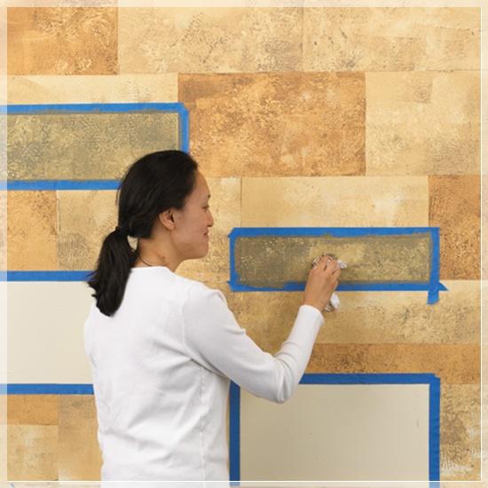 Креативная техника окраски стен