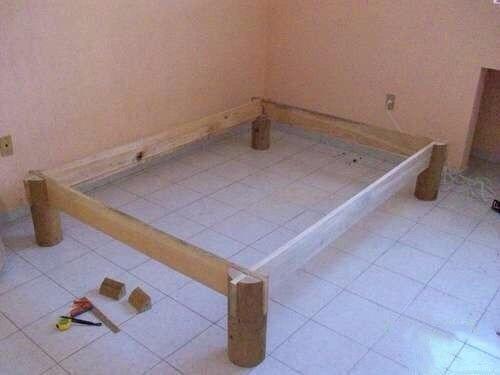 Кровать из дерева своими руками