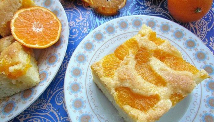 Мандариновый пирог