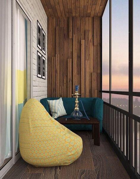 Сочный интерьер однокомнатной квартиры