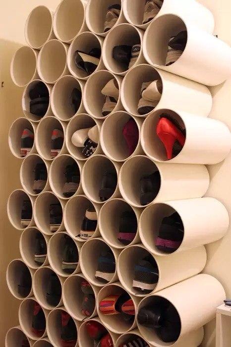 Творческое использование ПВХ-труб в домашнем хозяйстве и интерьере