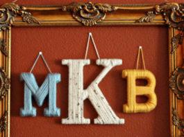 10 способов сделать стильный декор с буквами