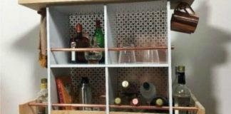 Как превратить старый шкаф в домашний бар (видео)1