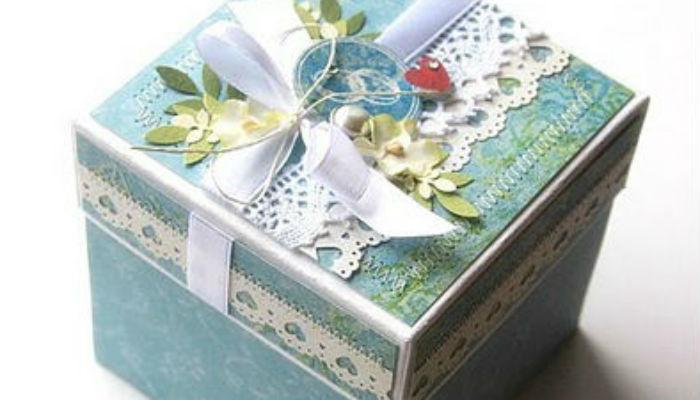 Подарок на свадьбу - денежная коробочка2