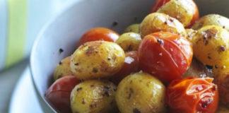Печеные овощи с горчицей