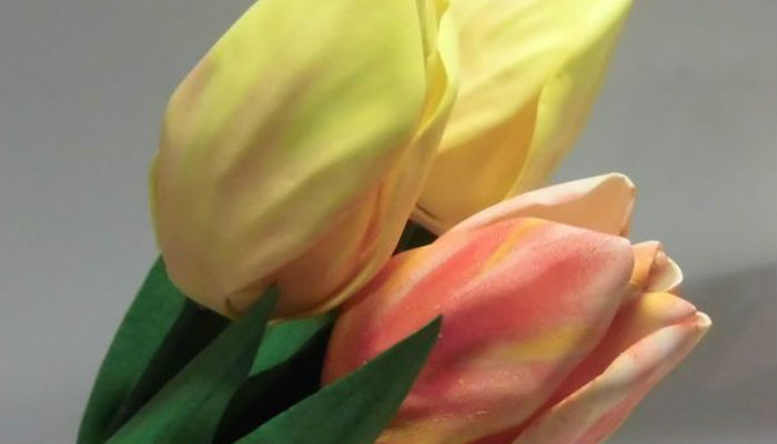 Тюльпаны из фоамирана