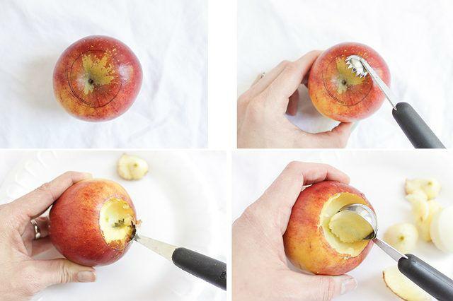 Яблочные свечи своими руками5