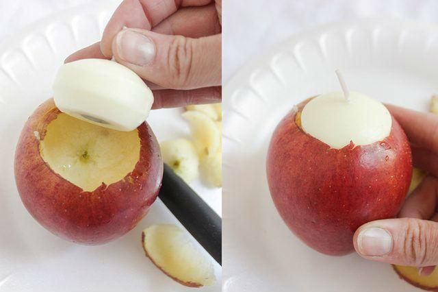 Яблочные свечи своими руками6
