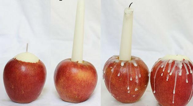 Яблочные свечи своими руками7