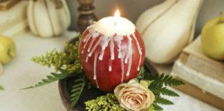 Яблочные свечи своими руками1