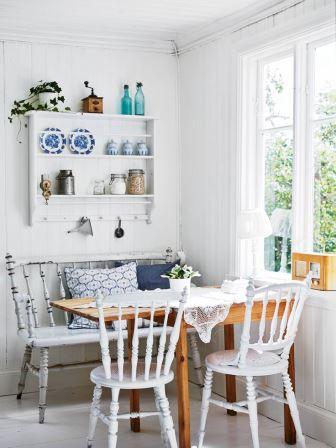 Интерьеры обеденных залов, уголки для завтрака в доме