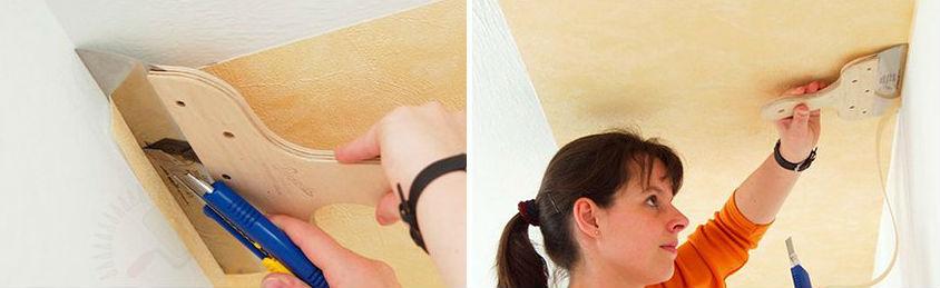 Ремонт в квартире: как поклеить обои на потолок