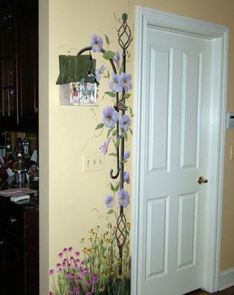 Рисунки на стенах в квартире