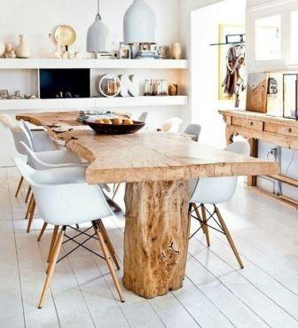 Столы из цельного массива дерева