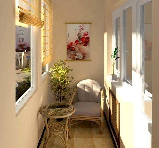 Уютные идеи для оформления балкона