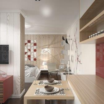 Дизайн квартиры 42 кв. м