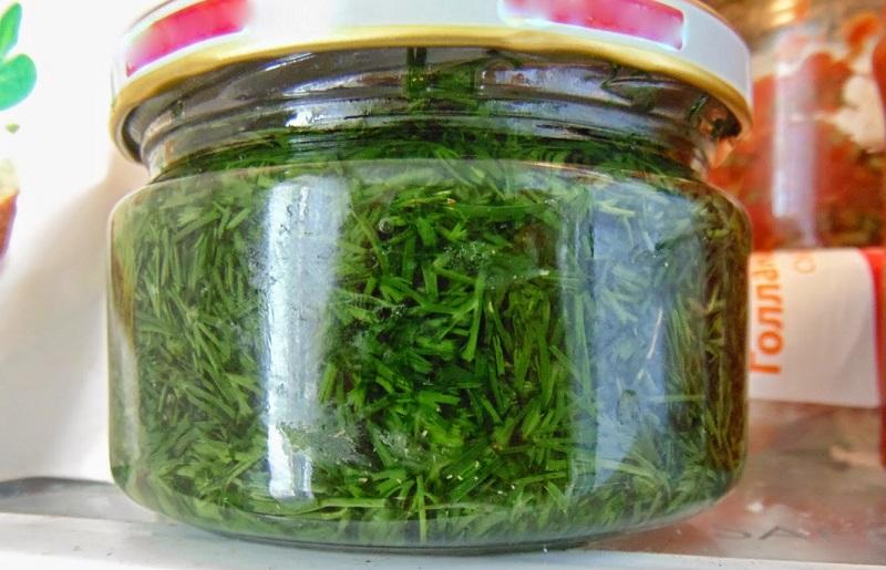 Как сохранить свежую зелень без консервации и заморозки! Зелёное масло в банке