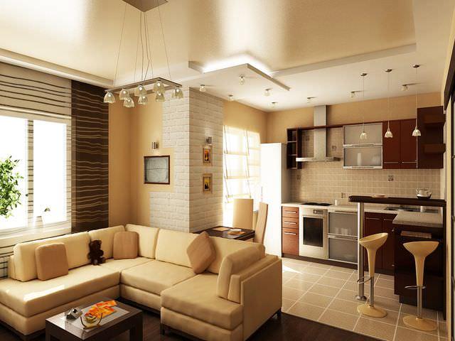 Оформление двухкомнатной квартиры площадью 44 кв. м.