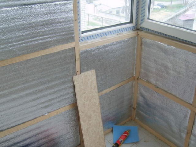 Фольгированный утеплитель для пола и стен - применение и мон.