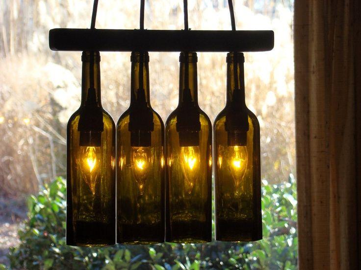 Оригинальные поделки из стеклянных бутылок