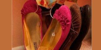 Оригинальная идея для удобного хранения обуви. очень компактно и аккуратно!