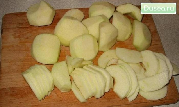 Малокалорийные творожные платочки с яблоками