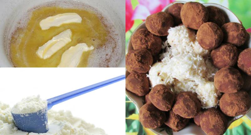 Домашние конфеты из сухого молока