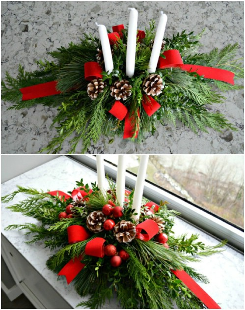 Идеи новогодних украшений из хвои