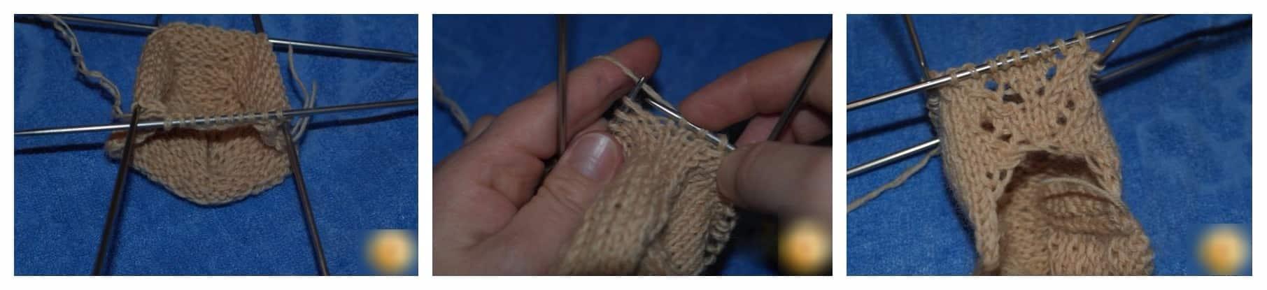 Вязание двумя спицами следков без швов видео